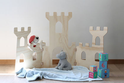 Pop up castle playhouse woodworking diy