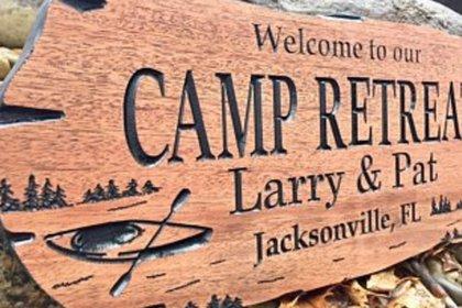 Cnc camp retreat sign