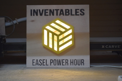 Cnc inventables led sign