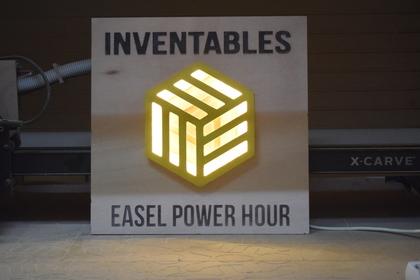 Cnc inventables led sign