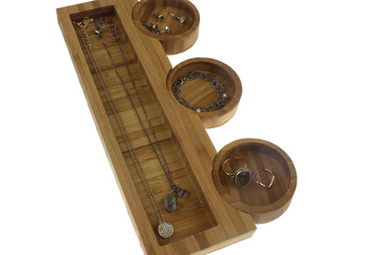 Fourpiecebambootray