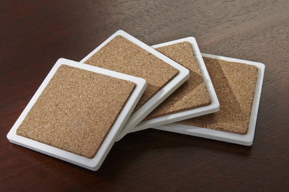 Corian%20and%20cork%20coasters%20with%20holder