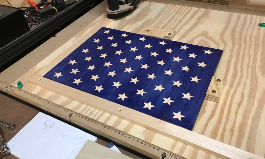 american flag star field project