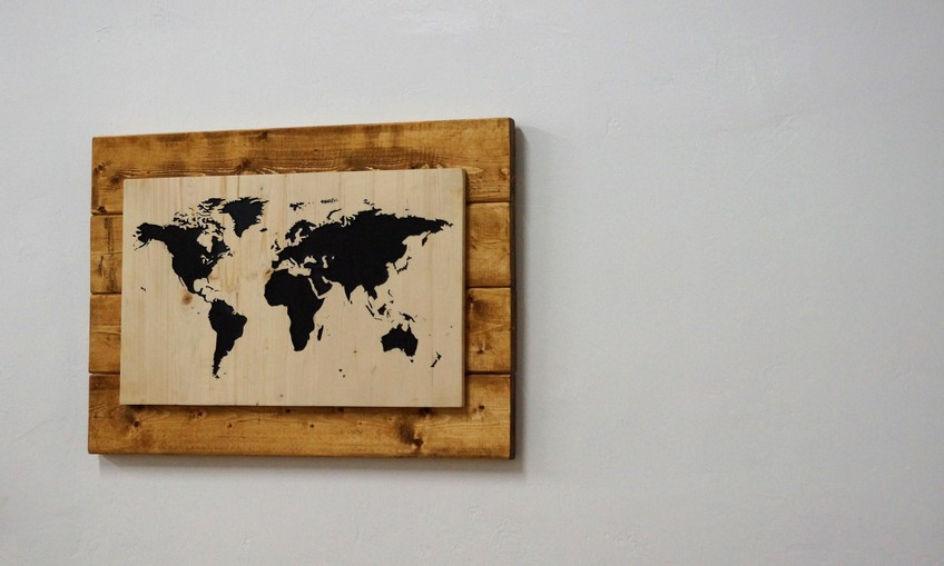 Diy world map wall art gumiabroncs Gallery