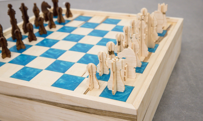 Diy Chess And Checkers Board