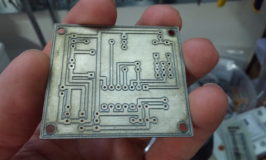 How to mill a through hole PCB
