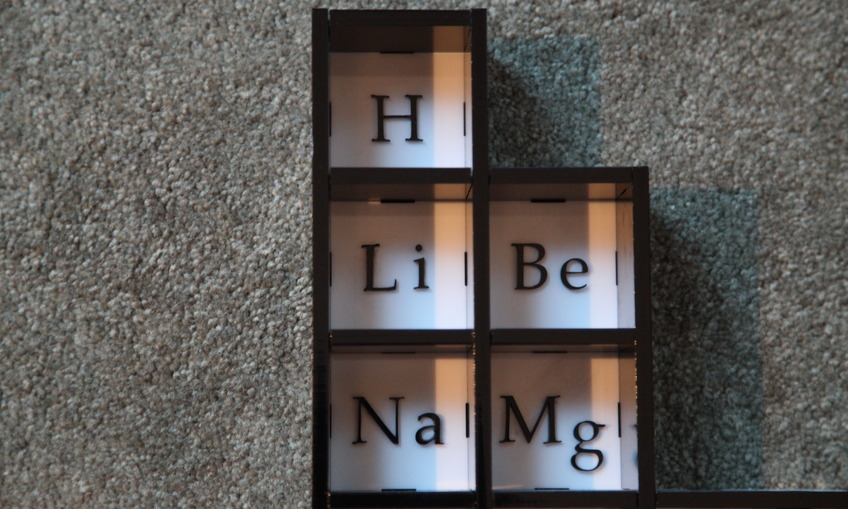 Periodic Table Display Cabinet