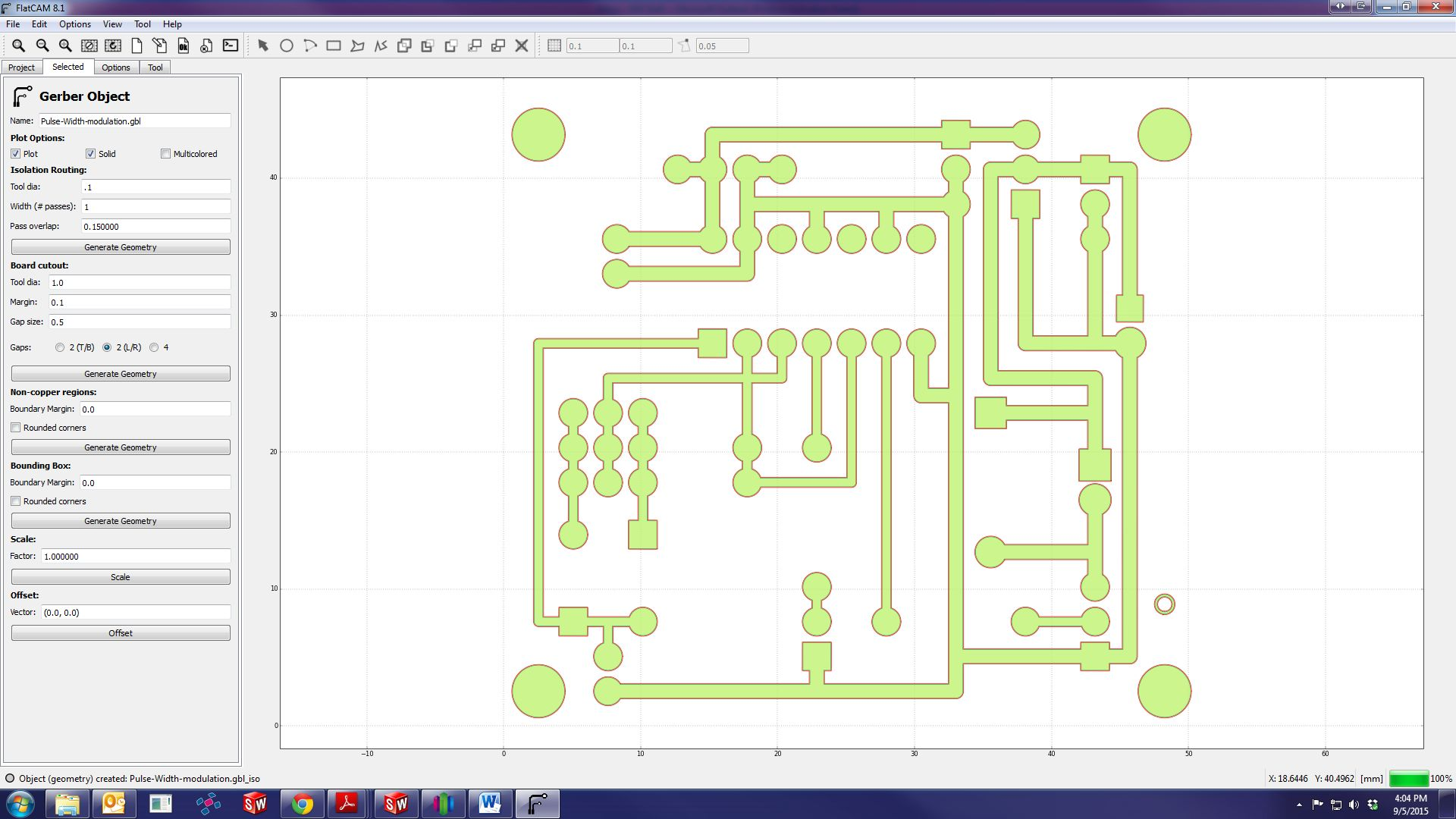 How To Mill A Through Hole Pcb Next Work Space With Interface Buttons For Designing Circuit Will 2a