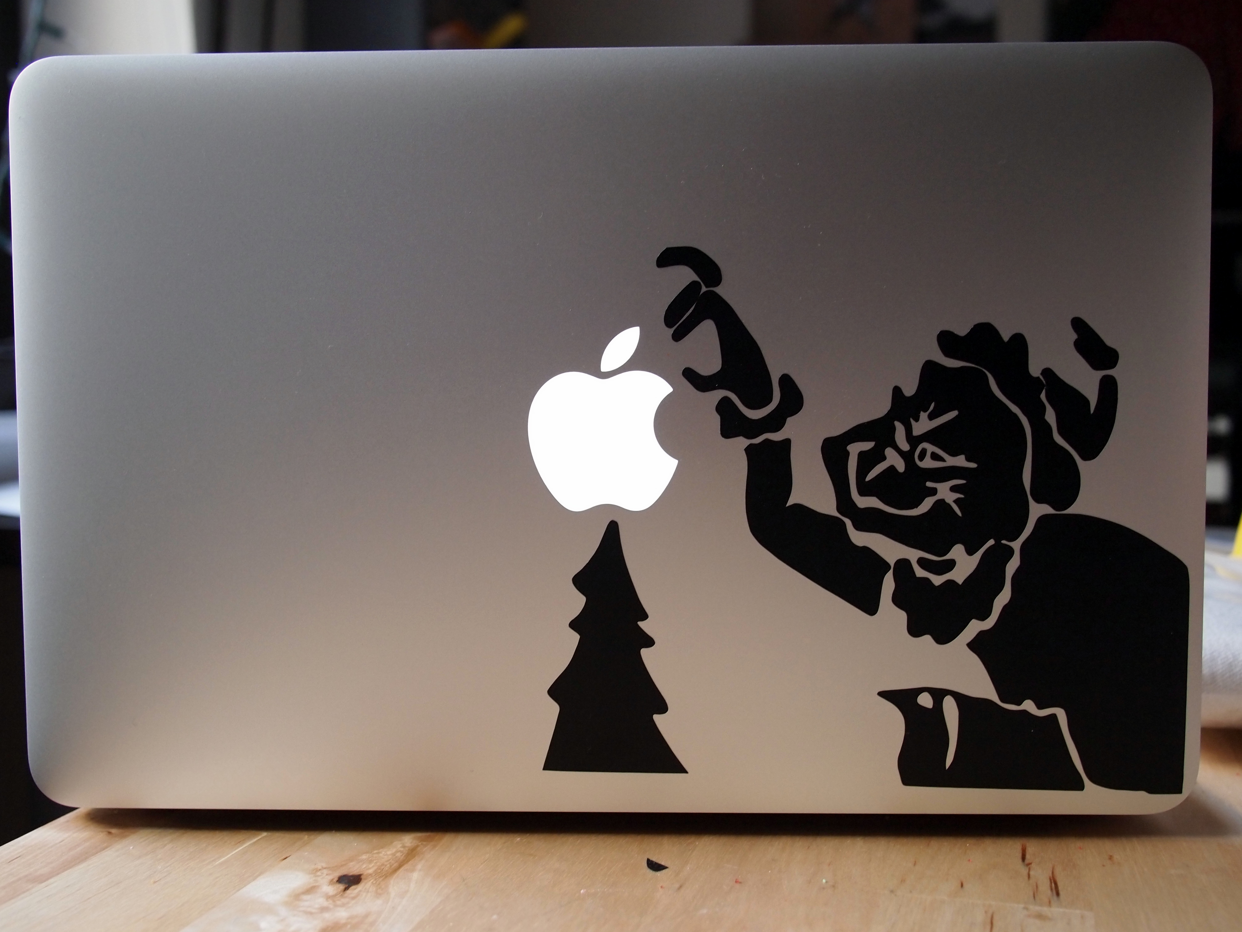 Grinch Laptop Sticker - Make your own decal for laptop