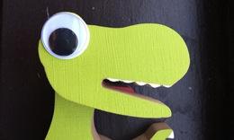 Dino head detail