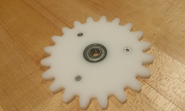 Step 2   insert hardware into small gears