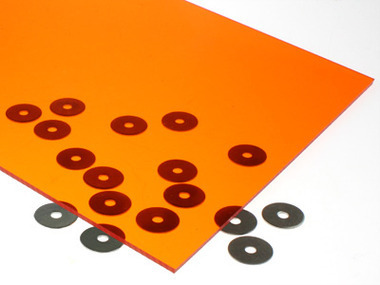 Transparent Orange Acrylic Sheet