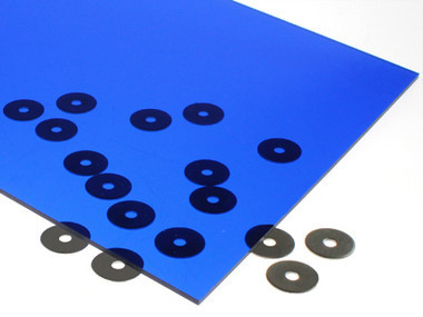 Transparent Dark Blue Acrylic Sheet