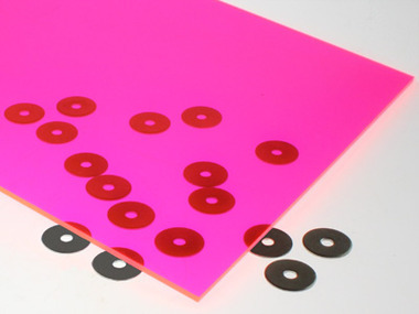 Fluorescent Pink Acrylic Sheet