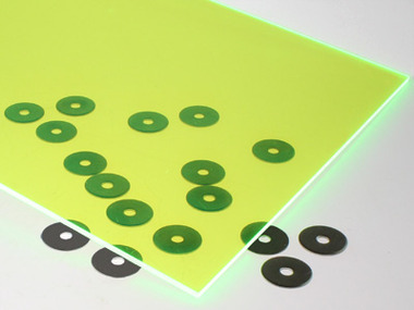 Fluorescent Green Acrylic Sheet