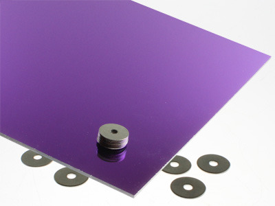 Purple Mirrored Acrylic Sheet