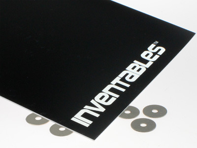 Black on Bright White Laserable Acrylic Sheet