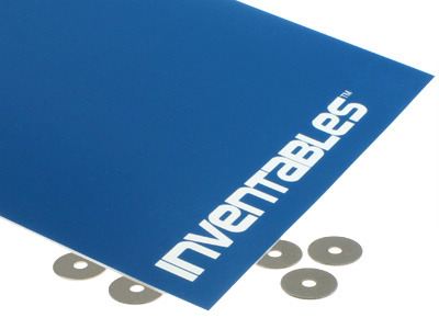 Blue on Bright White Laserable Acrylic Sheet
