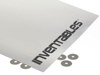 Brushed Aluminum on Black Laserable Acrylic Sheet
