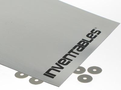 Brushed Silver on Black Laserable Acrylic Sheet