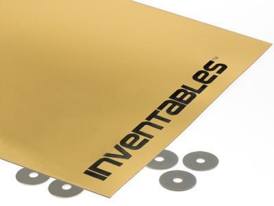 Brushed Gold On Black Laserable Acrylic Sheet