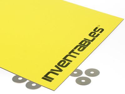Yellow on Black Laserable Acrylic Sheet