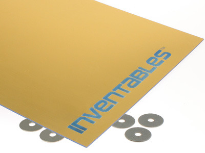 Brushed Gold on Blue Laserable Acrylic Sheet
