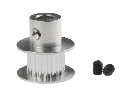 Aluminum MXL Pulley - Dual Flange