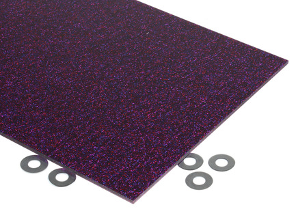 Ruby Glitter Acrylic Sheet