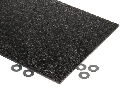 Black and Silver Glitter Acrylic Sheet