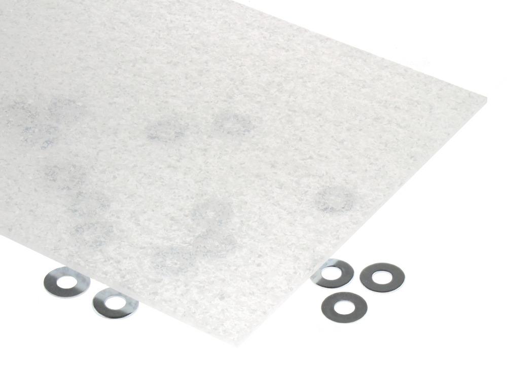 White Glitter Flake Acrylic Sheet