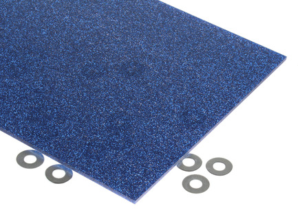 Blue Glitter Acrylic Sheet