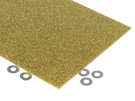 Gold Glitter Acrylic Sheet