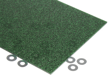 Green Glitter Acrylic Sheet