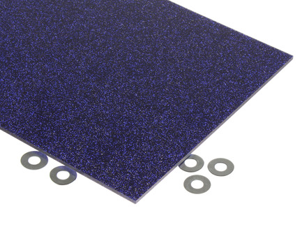 Purple Glitter Acrylic Sheet
