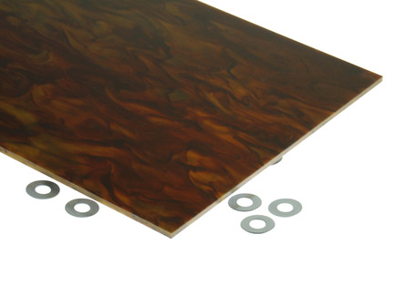 Tigerlily Marble Acrylic Sheet