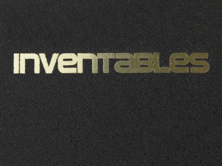 Laserable Sparkle Steel - Black on Gold