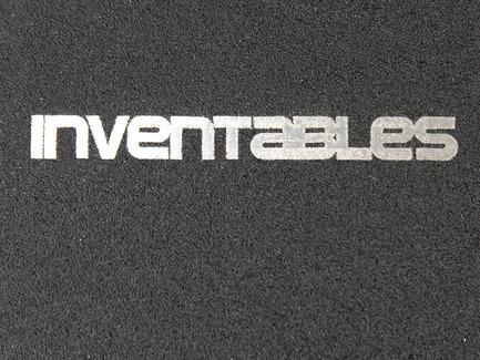 Laserable Sparkle Aluminum - Black on Silver
