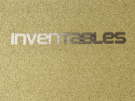 Laserable Sparkle Aluminum - Gold on Silver