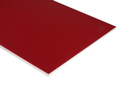 Two-Color HDPE - Red on White