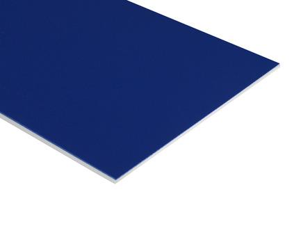 Two-Color HDPE - Blue on White
