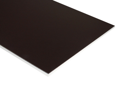 Two-Color HDPE - Brown on White