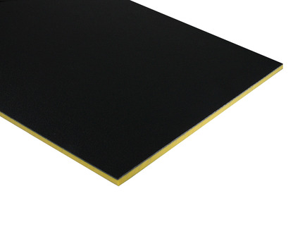 Two-Color HDPE - Black on Yellow