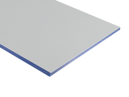 Two-Color HDPE - White on Blue