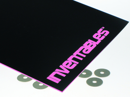 Black on Neon Pink Laserable ABS Sheet