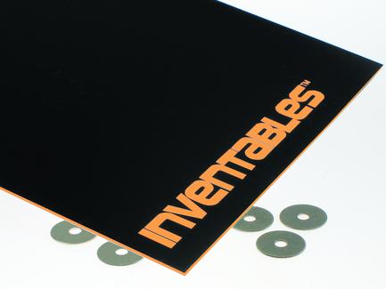 Black on Neon Orange Laserable ABS Sheet