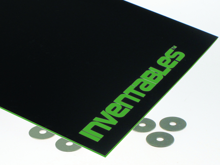 Black on Neon Green Laserable ABS Sheet