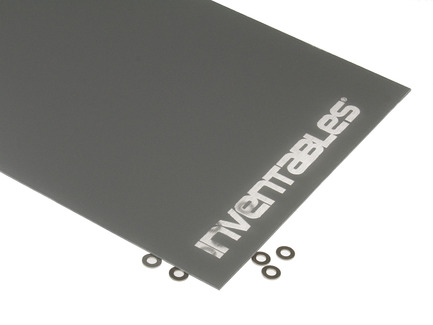 Grey and Clear Reverse Laserable Acrylic Sheet