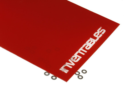 Red and Clear Reverse Laserable Acrylic Sheet