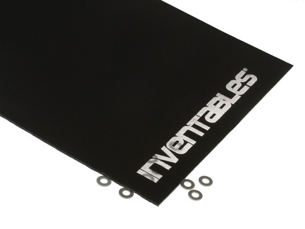 Black And Clear Reverse Laserable Acrylic Sheet